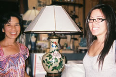 CY and daughter cloisonné lamp