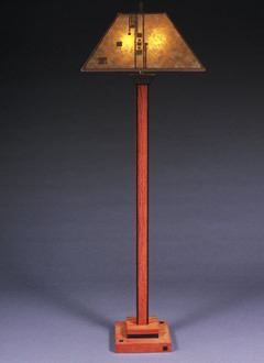 Mission Floor Lamps: f115 Lines and Squares wooden Mission floor lamp,Lighting