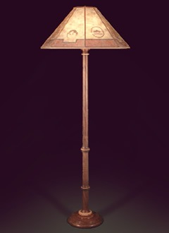 Hand crafted wooden floor lamp southwestern lamp shade sue johnson f116 hand crafted wooden floor lamp southwestern lamp shade mozeypictures
