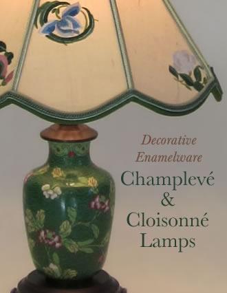 Enamel Champlev Cloisonn Lamps Archives Sue Johnson