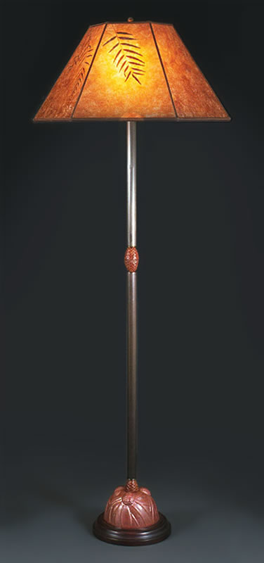 F91 Copper Pine Cone Floor Lamp