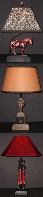 tribal trio lamps