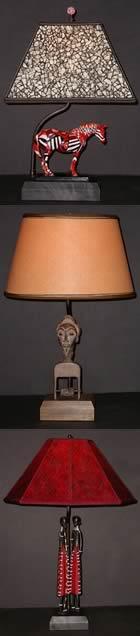 tribal trio lamps