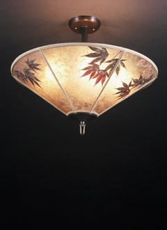c118 Japanese maple leaves mica ceiling lamps