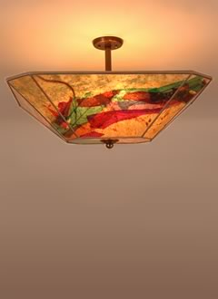 c151 Southwest sunrise inspired Blazing Sky fine art lamps, unique lamp ceiling fixture
