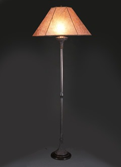 Hand Crafted Wooden Floor Lamp Southwestern Lamp Shade