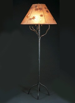 f96 Tribal tree floor lamp