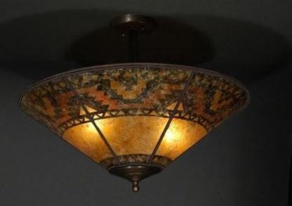 c125_Southwestern Lightning Border Design mica ceiling lamps