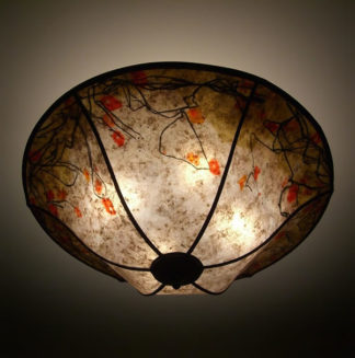 c162 Floral Illusion mica ceiling lamp