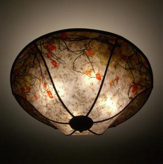 c162 Floral Illusion mica ceiling lamp