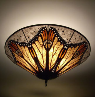 c168 Monarch Butterfly Wings Mica Ceiling Lamp