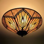 c259 Monarch Wing Mica Ceiling Light Mica Lamp shade