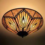 Lightning Border Mica Ceiling Lamp