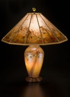 t186 Lindsay fine Art Glass Lamp and Art Mica Lamp shade: Desert Tree