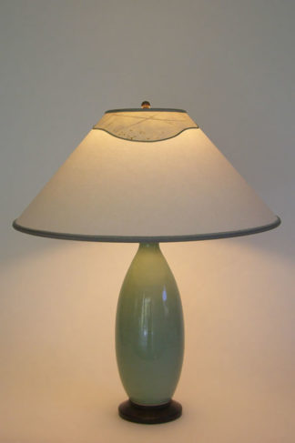 t227 Celadon Green Lamp, Accent Paper Lamp Shades