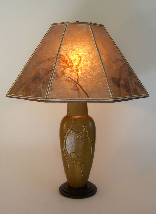 Lonesomeville chickadee tall bird lamp octagon mica lamp shade t254 lonesomeville chickadee tall bird lamp octagon mica lamp shade mozeypictures Choice Image