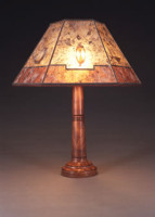 t34 Hand Turned Wooden table lamp