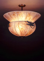 Windowpane mission mica ceiling light fixtures sue johnson dragonfly lamp two tier mica ceiling light fixture mozeypictures Gallery