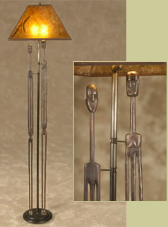 African marriage stick floor lamp
