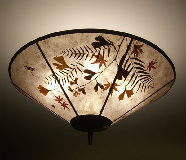 Natural mica dragonfly leaf lamp shade sue johnson custom lamps natural mica dragonfly leaf lamp shade aloadofball Images
