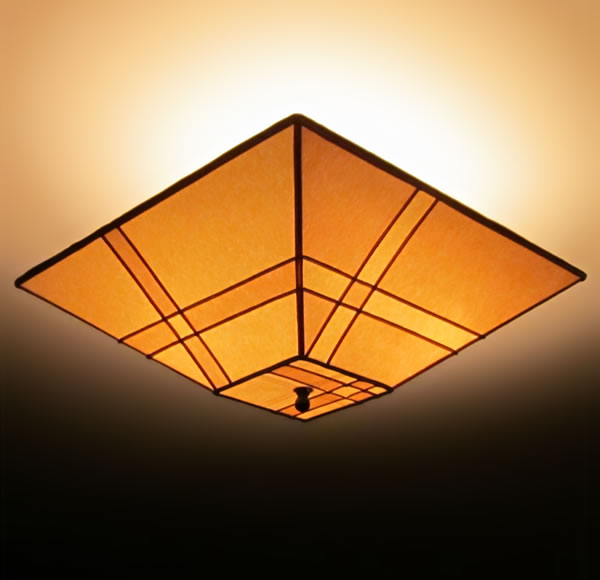 Pieced parchment paper square ceiling lamp shade sue johnson pieced parchment paper square ceiling lamp shade aloadofball Gallery