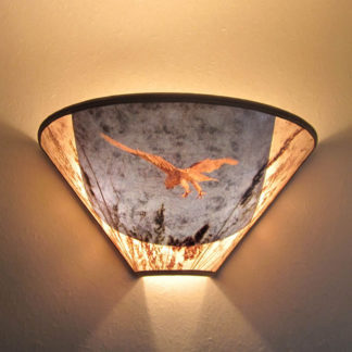 S302 White-tailed Kite Mica Sconce