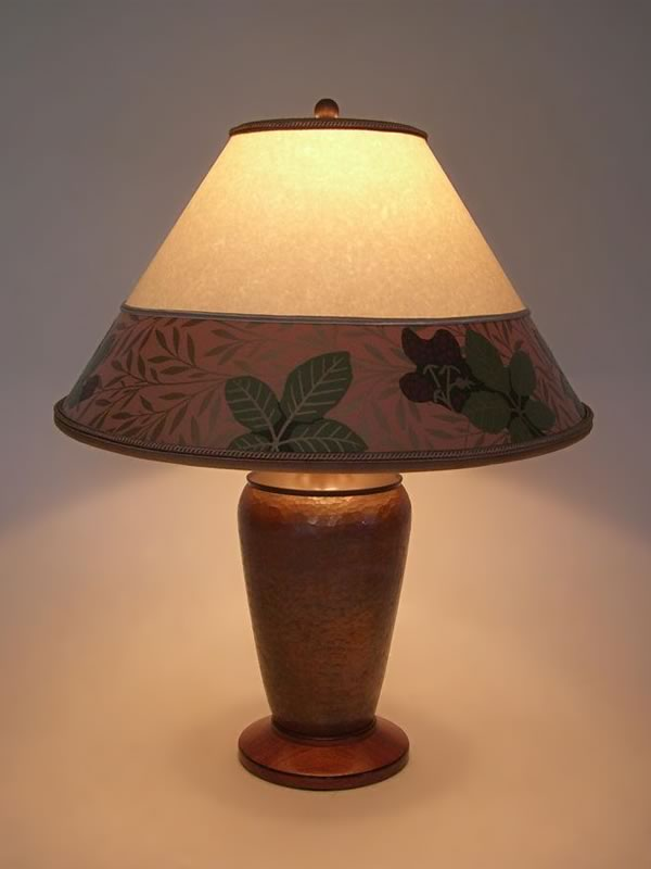 Arts crafts copper lamp parchment paper lamp shade with bradbury arts crafts copper table lamp parchment paper lamp shade aloadofball Images