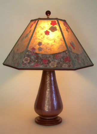 Hammered Copper Lamp Cherry Blossoms Mica Lamp Shade Sue