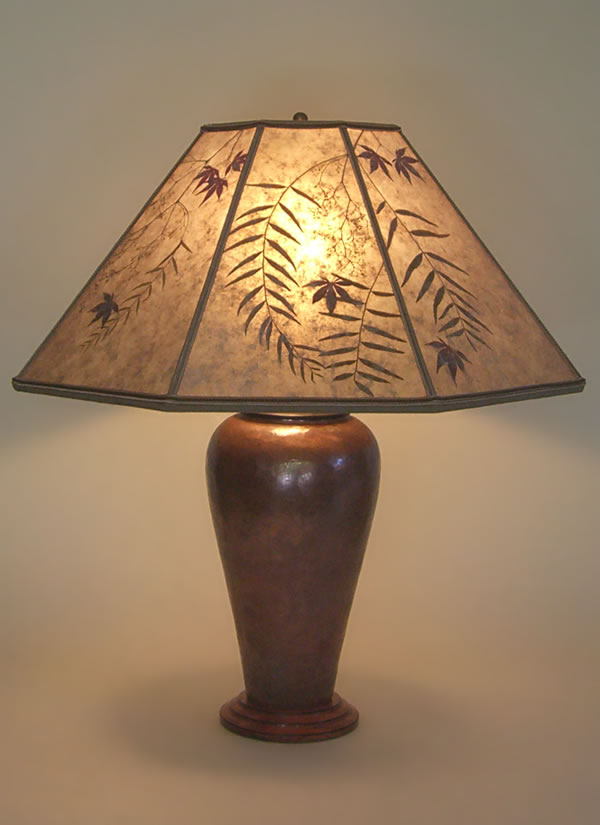 Copper Table Lamp Mica Shade
