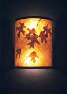 s85 Oak Leaves Sconce mica lamp