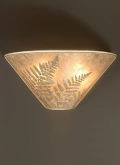 s130 Bracken Fern wall sconce