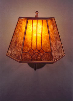 S56 Mica wall lamp, windowpane design
