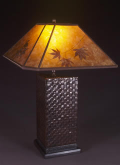 Leather Triangle Table Lamp