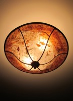 """Ginkgo Garden"" mica ceiling light"