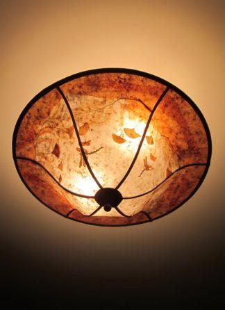 """""""Ginkgo Garden"""" mica ceiling light"""