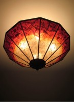 "c310 Silver Mica Ceiling Light - ""Red Vines"""