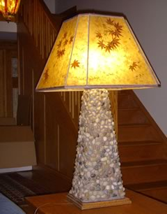 custom cut-corner mica lamp shade