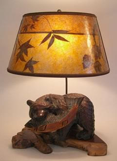 T00 Antique Ainu bear lamp 1