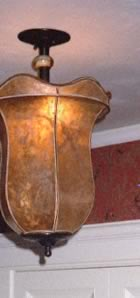 mica hanging lamp