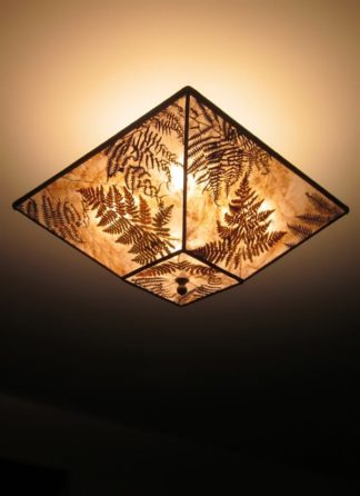 "c313 Square Mica Ceiling Light ""Fern Fantasy"""