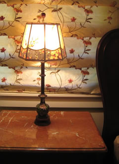 Alkyd Mica lamp with Cherry Blossom Border