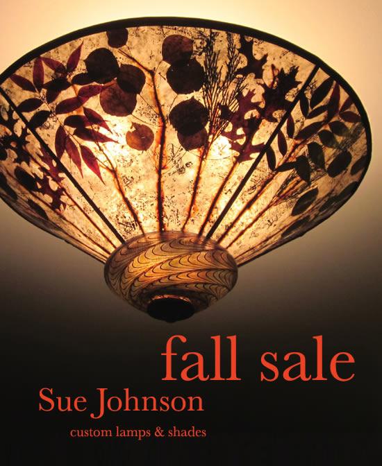 fall sale 2015 - Sue Johnson Custom Lamps & Shades