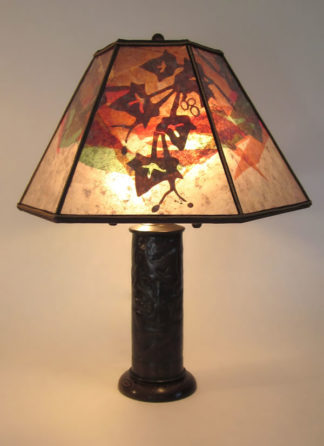 t000 Trench Art Lamp. Ivy mica lamp shade