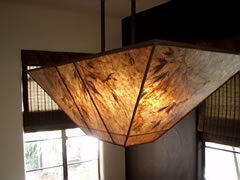 Japanese maplle leaves custom lamp shade