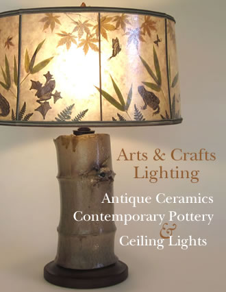 Arts & Crafts Lighting - Antique Ceramics, Contemporary Pottery, Ceiling Lights