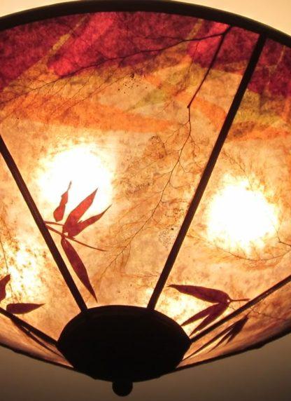 c322 Bamboo garden at sunset round mica detail