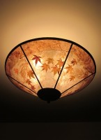 c323 Maple Morning round mica ceiling lampshade