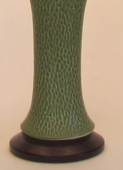 t334 Lonesomville green dragonfly lamp base