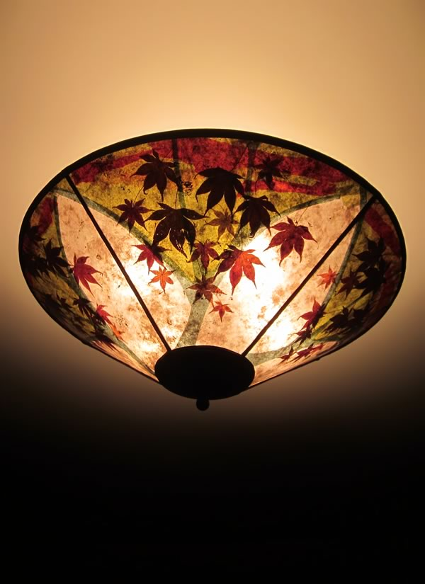 c339 Fantasy Maple round mica ceiling shade