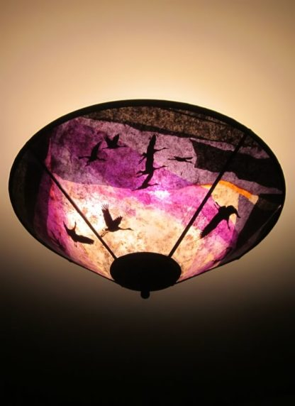 c345 Cranes at Daybreak purple ceiling shade